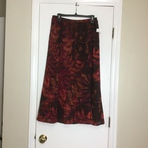 NWT TanJay Maxy colored Skirt